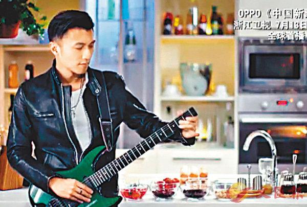 ■霆鋒的宣傳片選於廚房拍攝。