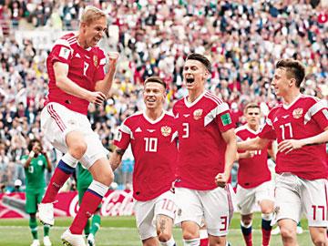 世界盃揭幕戰 俄羅斯5:0狂勝沙特