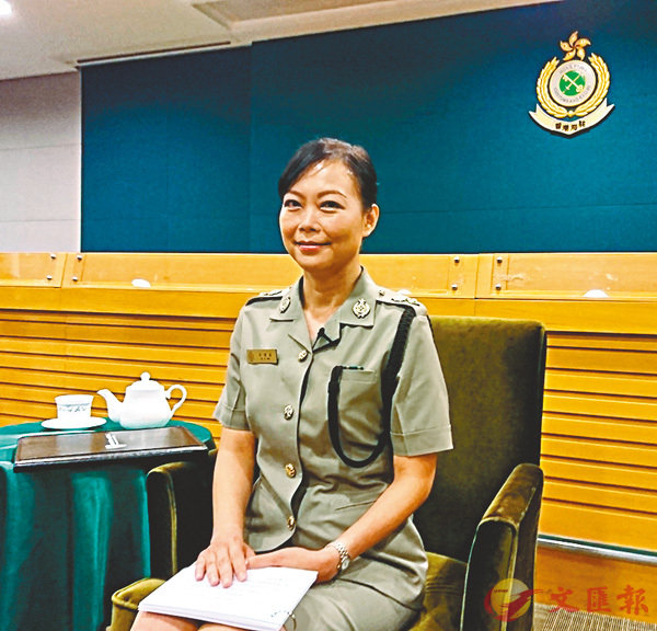 ■ 吳潔貞指首5個月青少年帶違禁品過關的數字有上升趨勢。 香港文匯報記者顏晉傑 攝