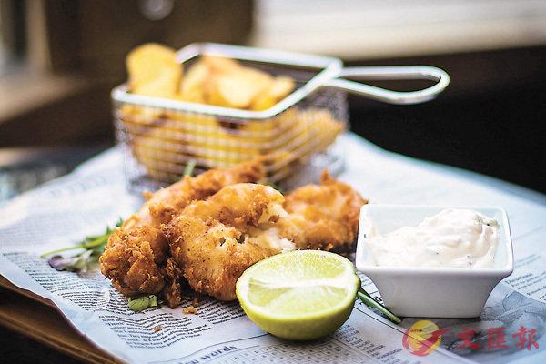 ■源自英國的Fish and Chips廣受歡迎。 網上圖片
