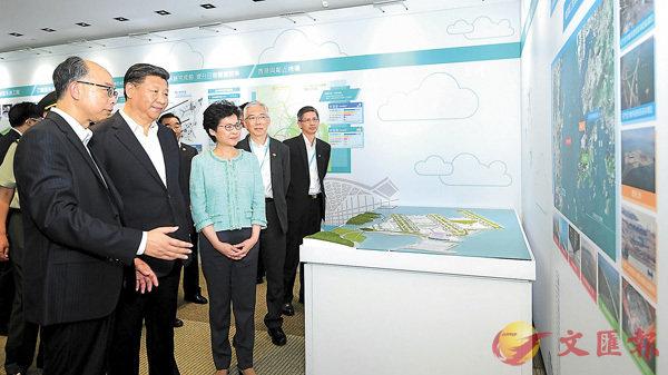 ■國家主席習近平視察港珠澳大橋整體工程。資料圖片