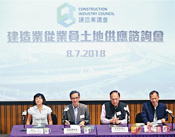 建造業:港極缺地 支持造地