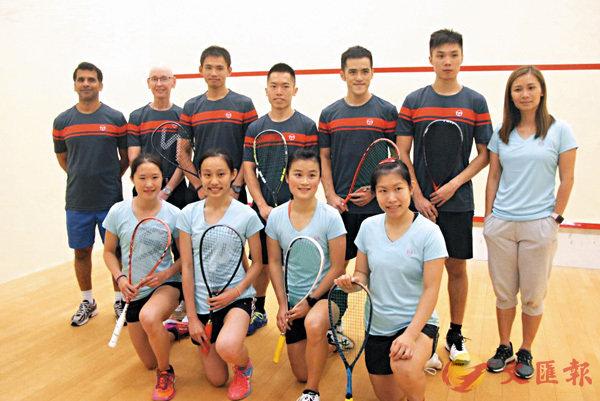 ■香港壁球隊力爭亞運再奪獎牌。香港文匯報記者潘志南  攝