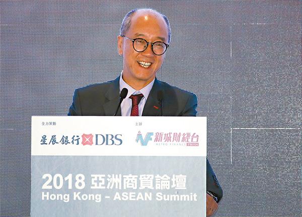 ■陳繁昌認為港人要有實幹精神,勇於創新。 香港文匯報記者彭子文  攝