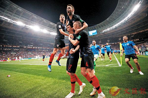 ■克羅地亞拚盡全力,在加時戰取得最終勝利,勇闖決賽。  路透社