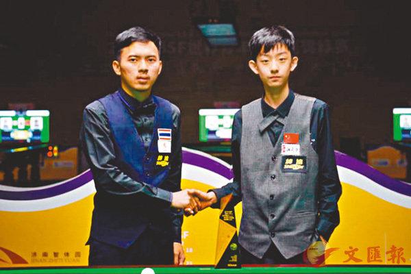 ■吳宜澤(右)獲桌球世青賽男子U21組冠軍。  網上圖片