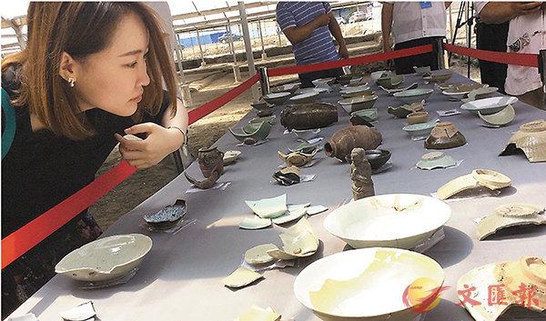 ■ 國清寺出土的大量宋代瓷器等日用器皿。