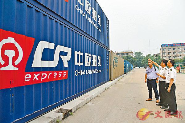 ■中欧班列新的联运模式,将促使广州、深圳、香港三大港业务量提升。 香港文汇报广州传真