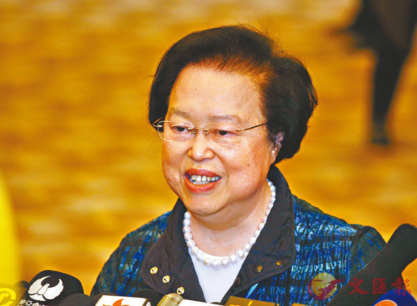 ■譚惠珠表示,取締「民族黨」絕對有法理依據。資料圖片