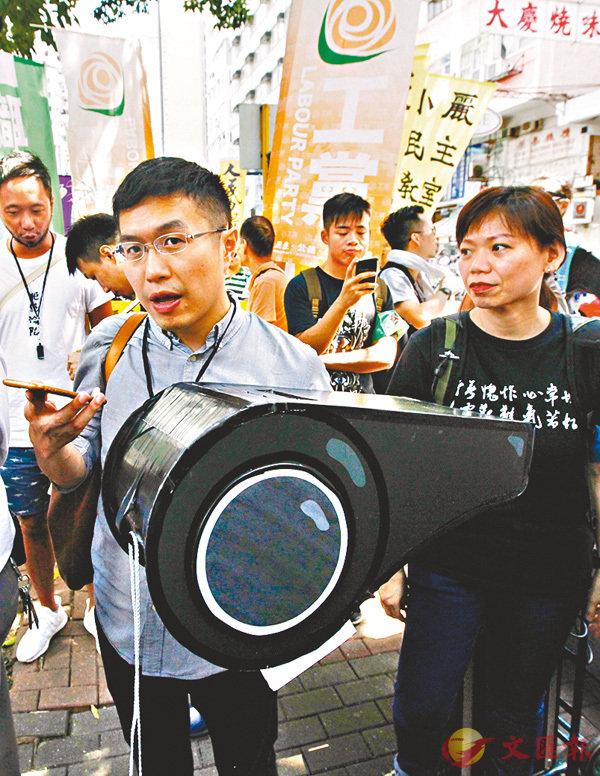 ■區諾軒日前公然領頭宣「獨」,各界促取消其議員資格。香港文匯報記者曾慶威  攝