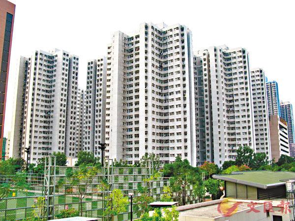 ■居屋在高樓價年代,竟變成業主搖錢樹。圖為「居屋王」大角咀富榮花園。 資料圖片