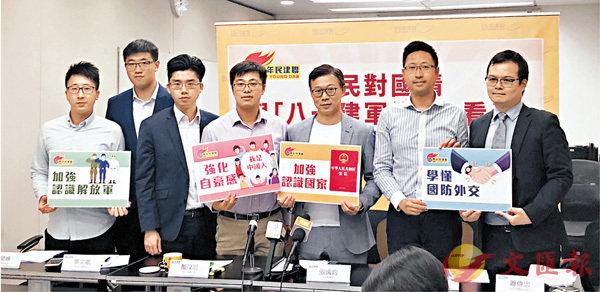 ■青年民建聯昨日召開記者會,公佈關於市民對國情的調查結果。  香港文匯報記者鄭治祖 攝