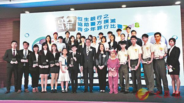 ■盧偉聰出席頒獎典禮。 香港文匯報記者顏晉傑  攝
