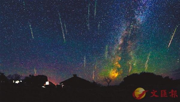 ■ 有「聖洛朗的眼淚」之稱的英仙座流星雨。網上圖片