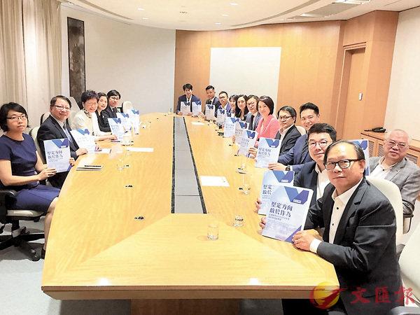 ■民建聯昨日向特首林鄭月娥就10月施政報告提出121項建議。