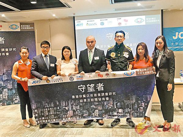 「守望者-香港快餐店夜宿者調查研究」昨日發佈調查結果。