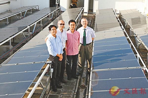■汪正平在港開展的「智能化太陽能技術:採集、存儲及應用」大型研究,除統籌外,還親身從事採集與存儲的研究部分。 中大供圖
