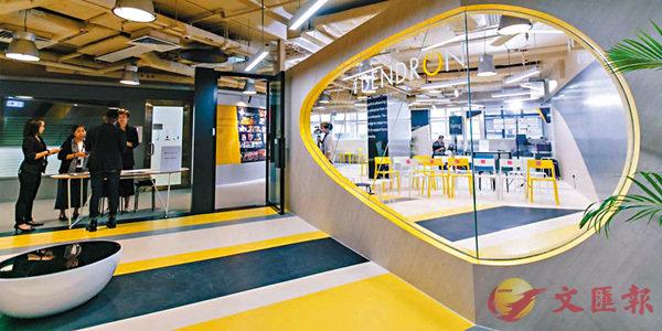 ■圖為港大成立的初創企業發展中心iDendron為學生、校友以及合作夥伴提供共享工作空間。資料圖片