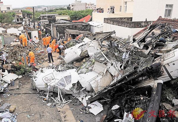 ■4年前發生的澎湖復興空難造成49人罹難。圖為空難現場。 資料圖片