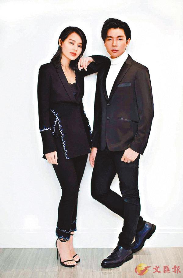 ■胡杏兒(左)在2015年與姚子裕共同創辦婚紗品牌。  資料圖片