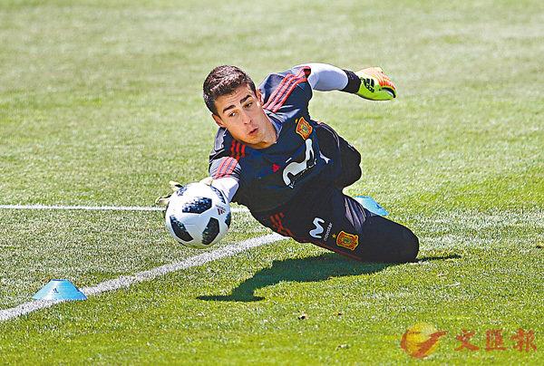 ■阿列沙巴拿加是西班牙今屆世界盃大軍中的後備守門員。法新社