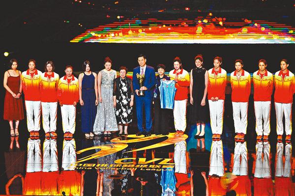 ■中國排球超級聯賽頒獎典禮於日前舉行。  新華社