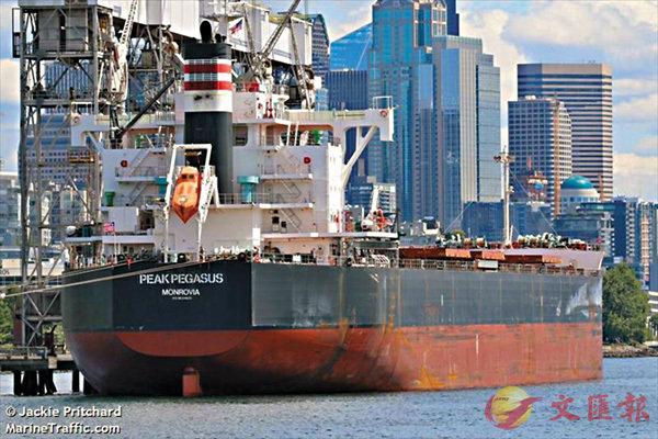 ■美國貨輪「飛馬峰號」。 網上圖片
