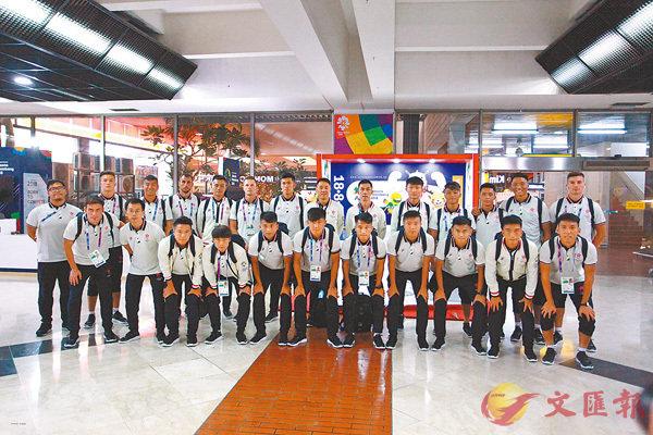 ■香港亞運足球隊前晚飛抵雅加達。 奧委會提供