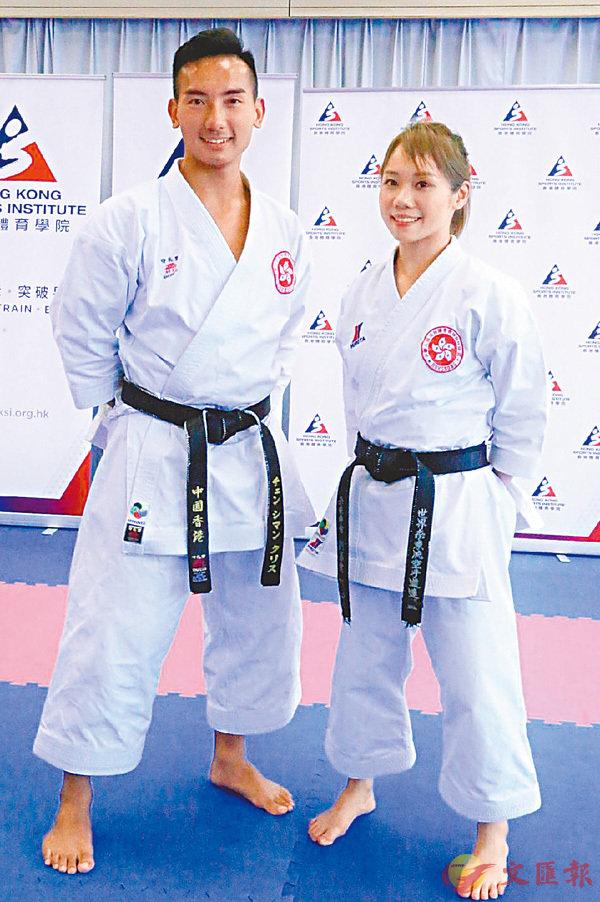 ■上屆第五的鄭子文(左)與劉慕裳希望登上亞運頒獎台。香港文匯報記者潘志南  攝