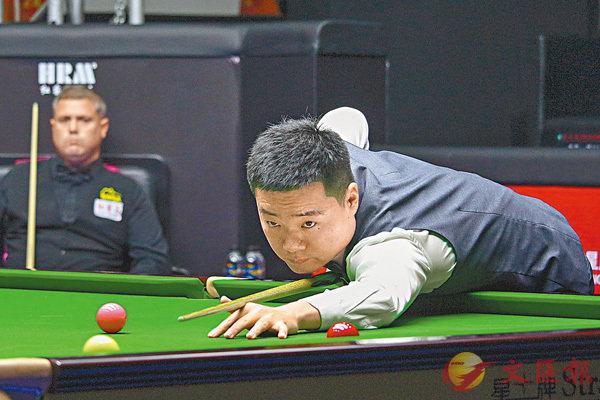 ■丁俊暉在世界桌球公開賽止步第二輪。 新華社
