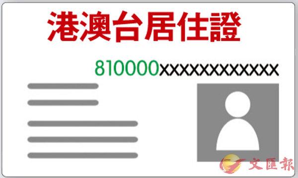 ■香港居民內地居住證號碼以810000開頭。設計圖片