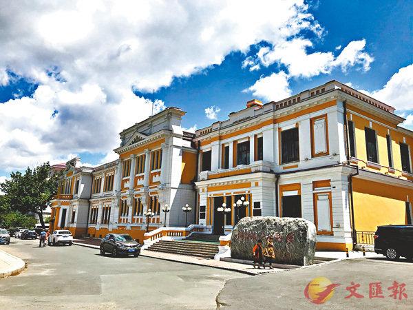 ■原中東鐵路俱樂部建築外觀,今闢為哈爾濱鐵路博物館,成為哈爾濱歷史文化名片。