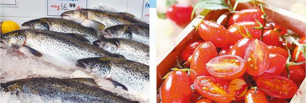 ■保健食品商人和衛生署對保健食品的看法有很大差異,例如三文魚的奧米加3脂肪酸和番茄的茄紅素。 資料圖片