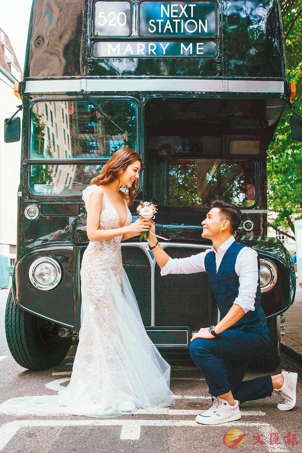 ■陳展鵬以特別方法向單文柔求婚。