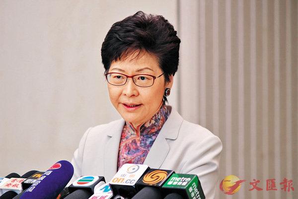 ■林鄭月娥希望市民包容跨境鐵路系統需要協調、銜接及磨合。香港文匯報記者梁祖彝  攝