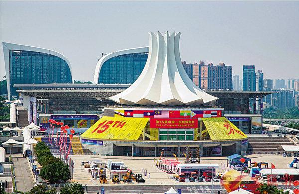 ■南寧國際會展中心外景。 中新社