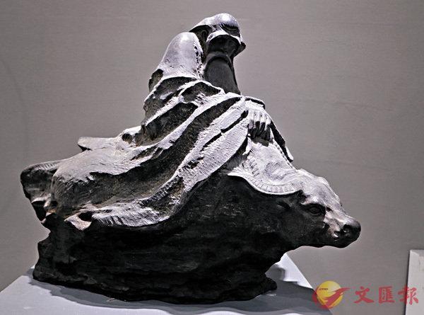 ■石雕石刻銀獎作品《老子出關》。作者:劉會輕