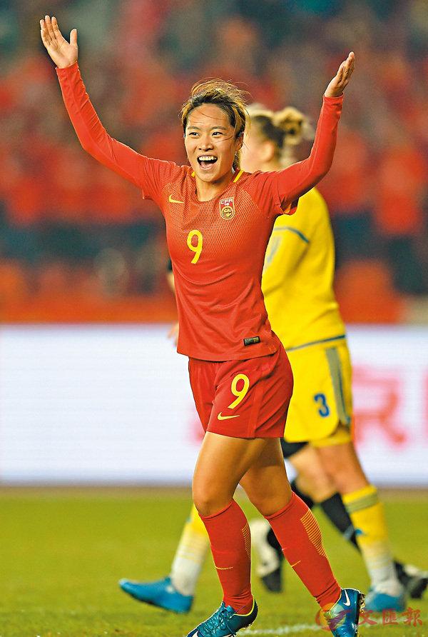 ■唐佳麗是中國女足和蘇寧女足的主力。  新華社
