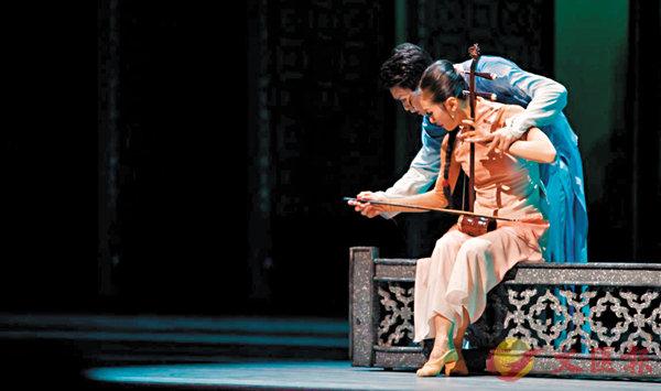 ■舞劇《沙灣往事》第一幕,男女主角演奏一把高胡定情。廣交提供