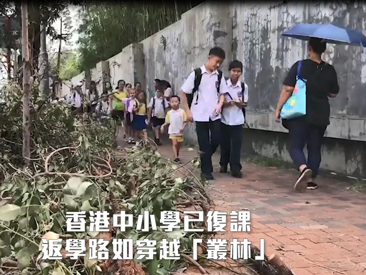 香港中小學復課日 返學如同返叢林