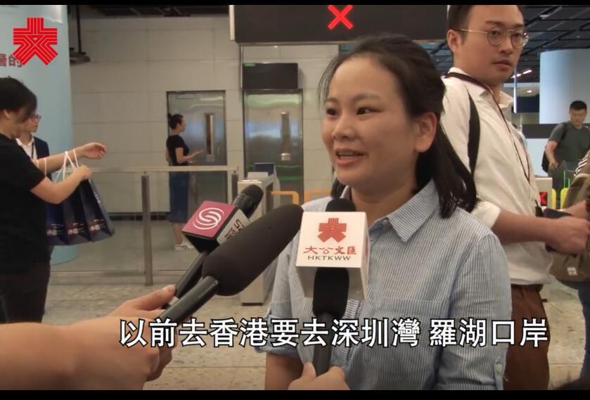 高鐵香港段通車|首批抵港乘客:高鐵快到無時間玩手機