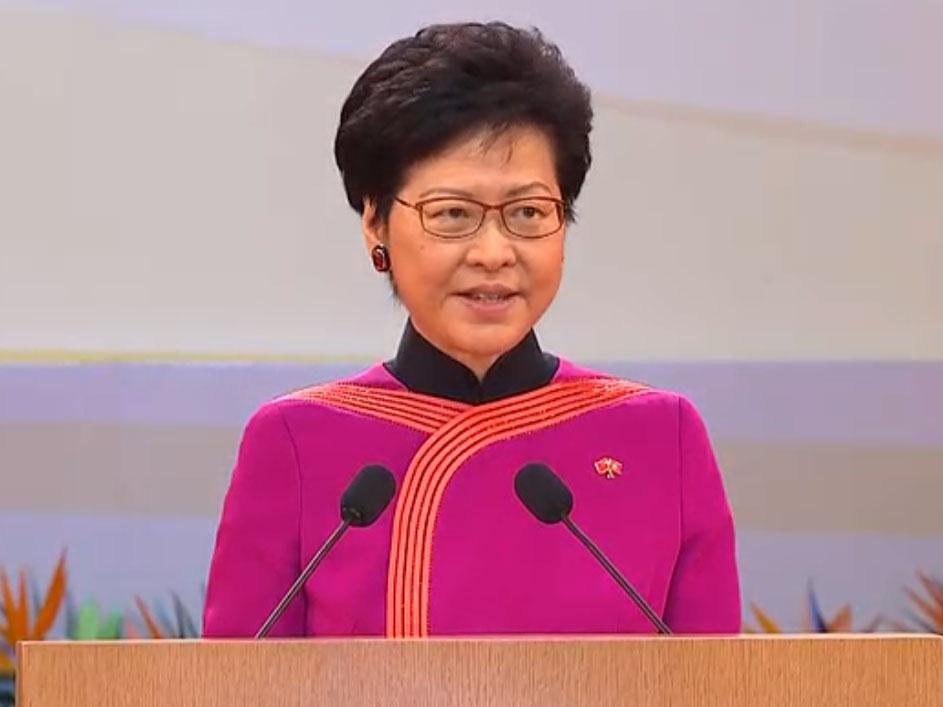 國慶69周年 | 林鄭:廣深港高鐵開通 慶祝國慶更添意義