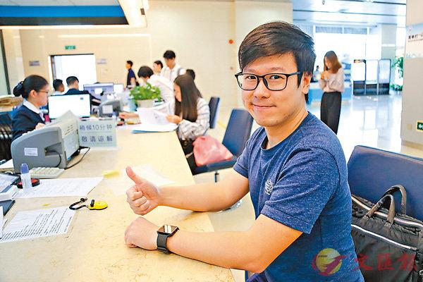 ■港青赖家智表示,十分乐见个税优惠推出。 香港文汇报记者敖敏辉摄