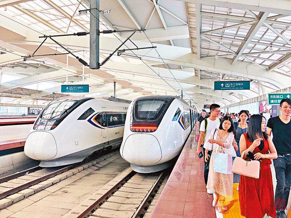 ■廣深港高速鐵路全線開通,迎來國慶黃金周歷史最大客流。資料圖片