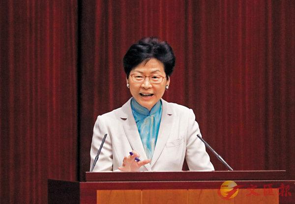 ■林鄭月娥表示「明日大嶼」計劃須迎難而上。 香港文匯報記者劉國權  攝