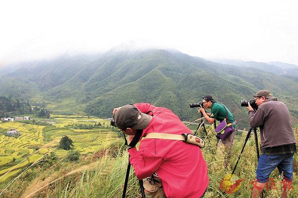 ■樂昌五山梯田已經成為一張旅遊新名片,吸引攝影愛好者前往。 香港文匯報廣州傳真