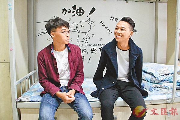 ■ 吳建早(右)、吳建智(左)兄弟倆哥哥開朗愛笑,弟弟內向深沉。香港文匯報記者譚旻煦 攝