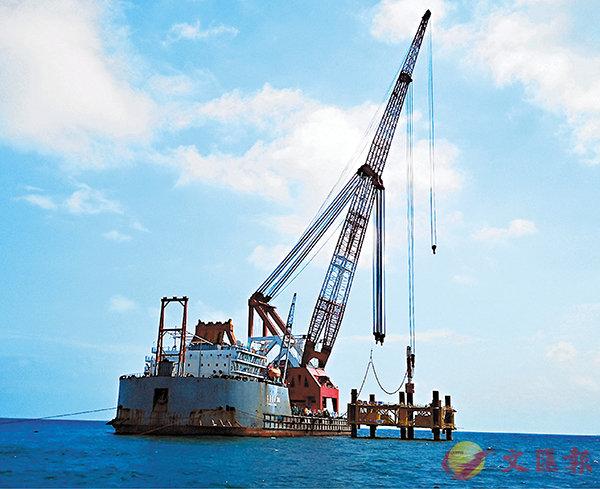 ■圖為中廣核陽江南鵬島海上風電場項目。