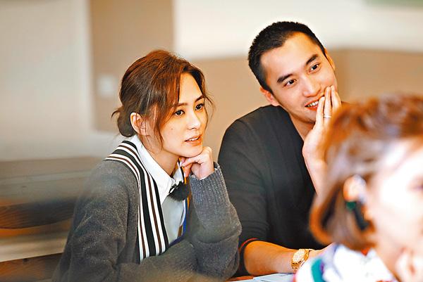 ■鍾欣潼和未婚夫賴弘國參與內地真人騷《爸媽學前班》。