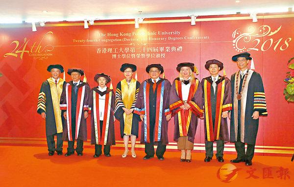 ■香港理工大學日前舉行第二十四屆畢業典禮。 香港文匯報記者莫雪芝攝